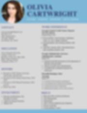 Olivia Cartwright professional resume