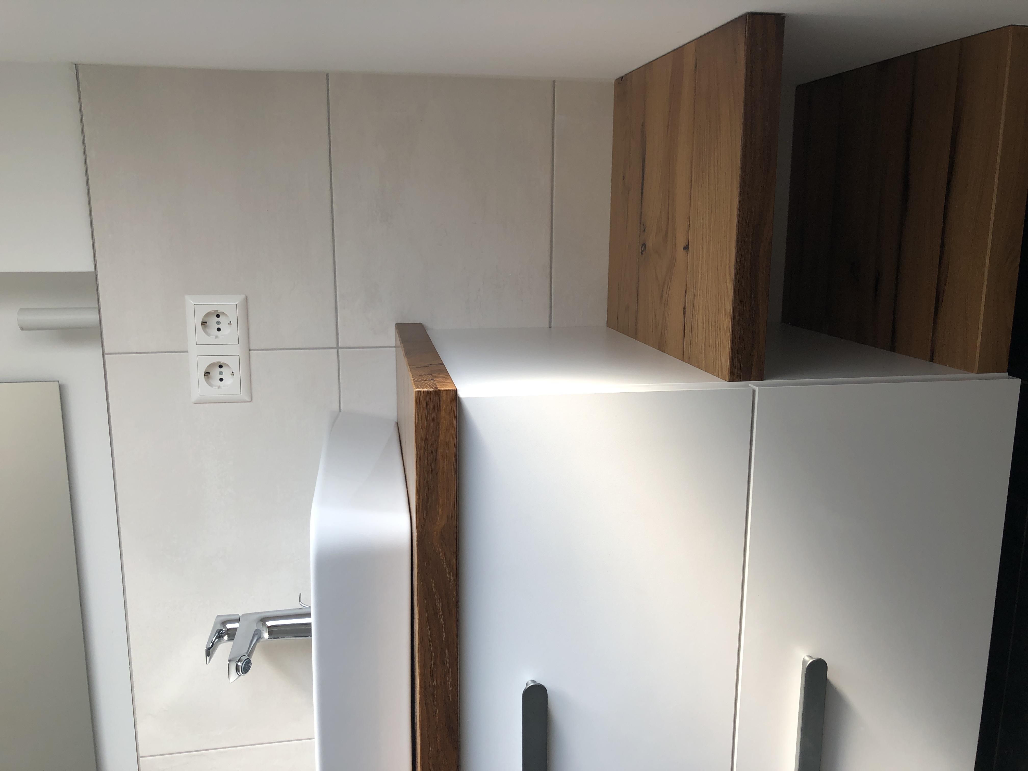 Waschtischplatte und Ablage Eiche Altholz