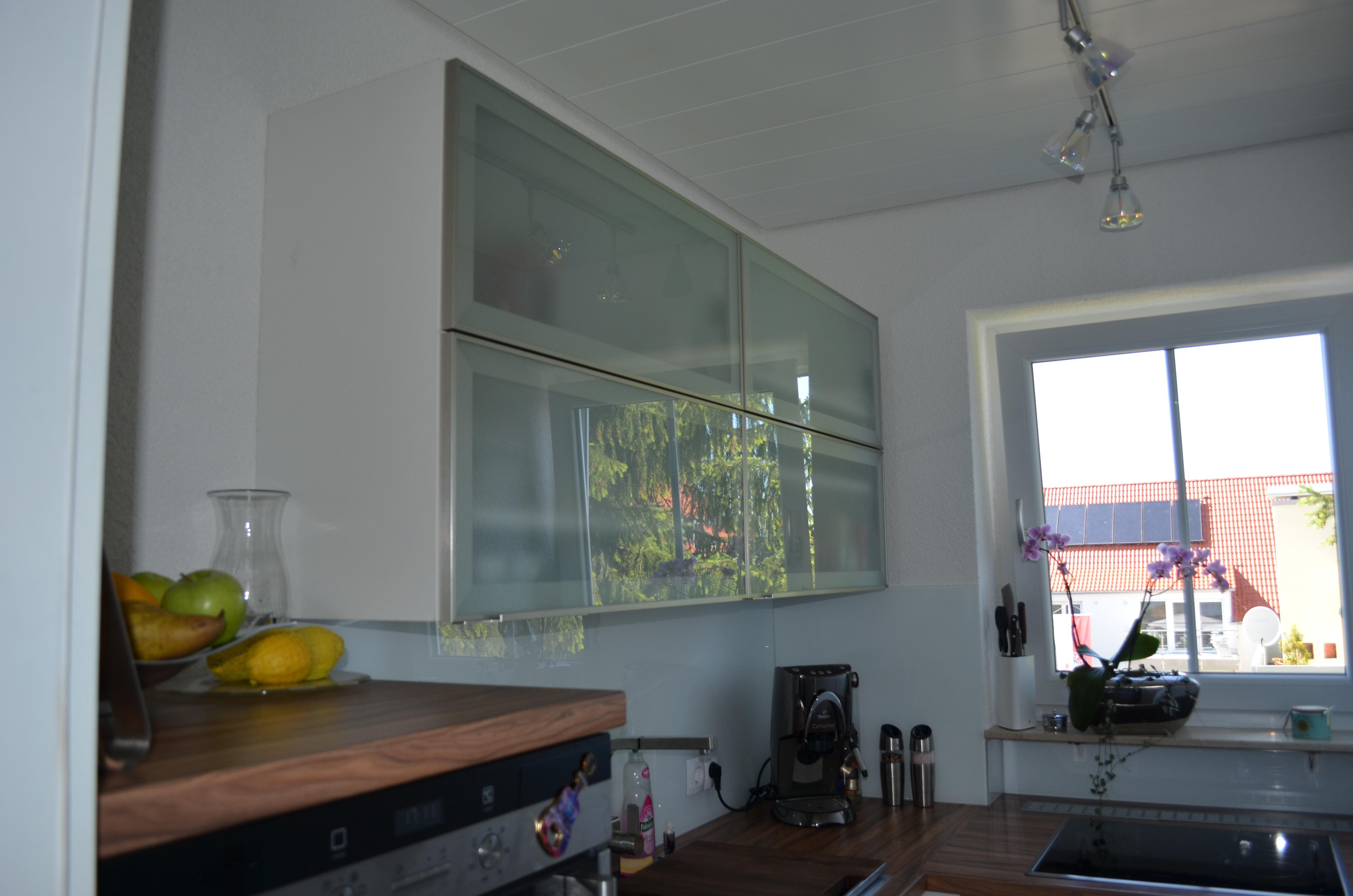 Oberschrank, Fronten: Glas-Aluminium