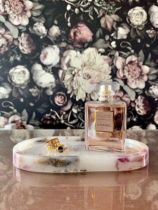 Floral Trinket Tray (white)