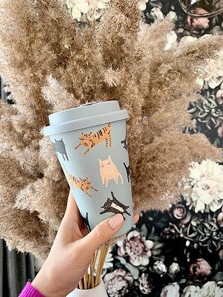 Cat Lover reusable bamboo mug