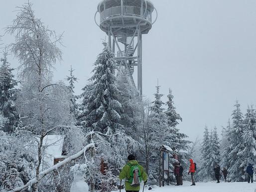 Wyjazdowy trening nordic walking w Góry Bystrzyckie - Jagodna 20.02.2021