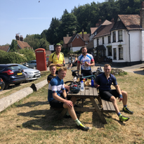 A well-deserved cake stop out in Surrey