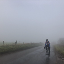 A misty morning ride