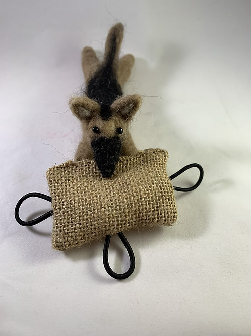 German Shepherd needle felted souvenir