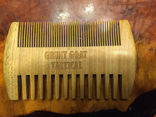 Green Sandalwood Beard Comb