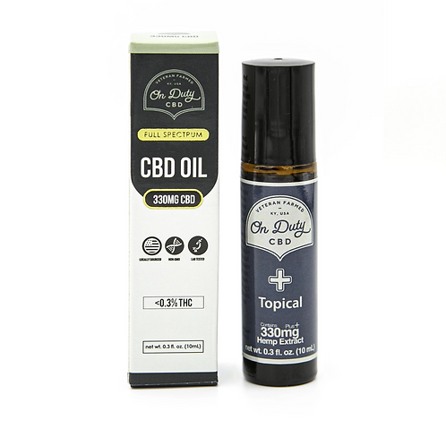 ON DUTY CBD PURE TOPICAL ROLL ON 330MG