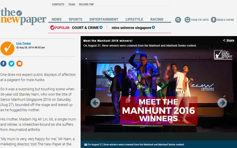 The New Paper - Manhunt Winner Feature