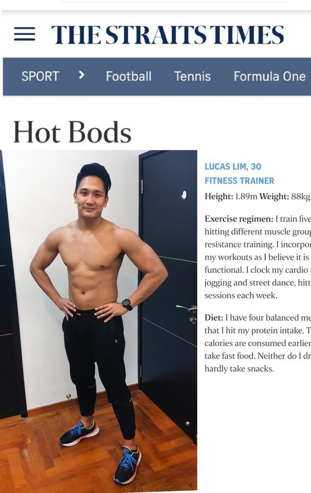 Straits Times Hot Bods Feature - Lucas L