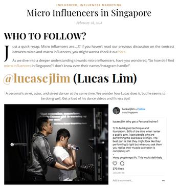 Influencer Marketing Singapore Feature