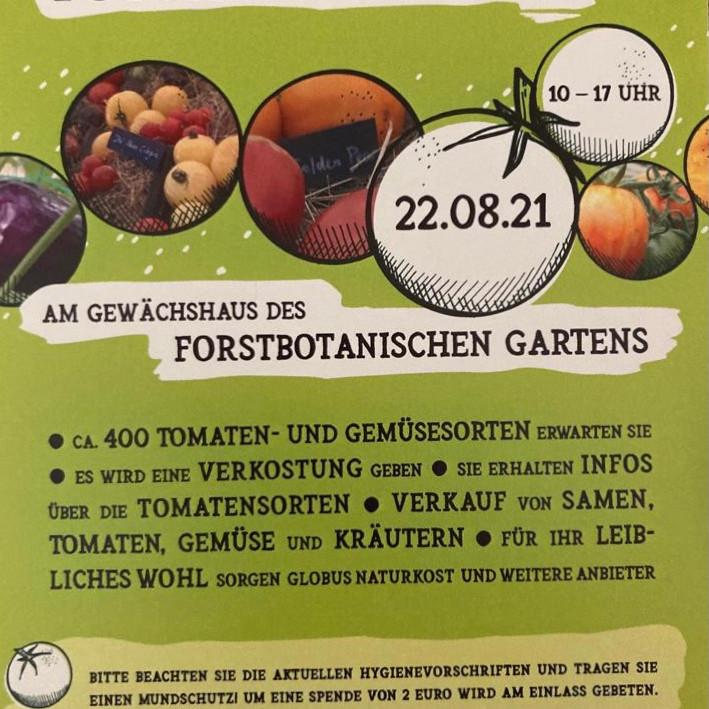 Tomatenfestival am Gewächshaus des botanischen Gartens