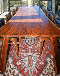 Book Matched Claro Walnut Dining Tabe