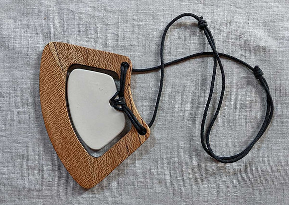 Spalted Sycamore and Ceramic Breastplate