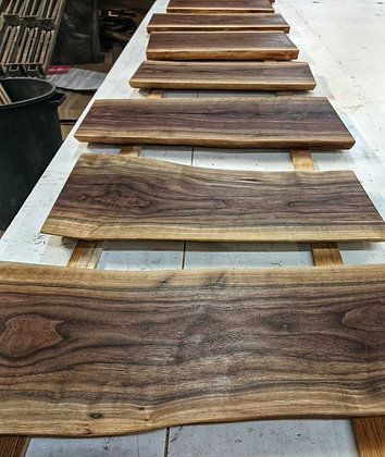 Live Edge Walnut Serving Boards: 18""