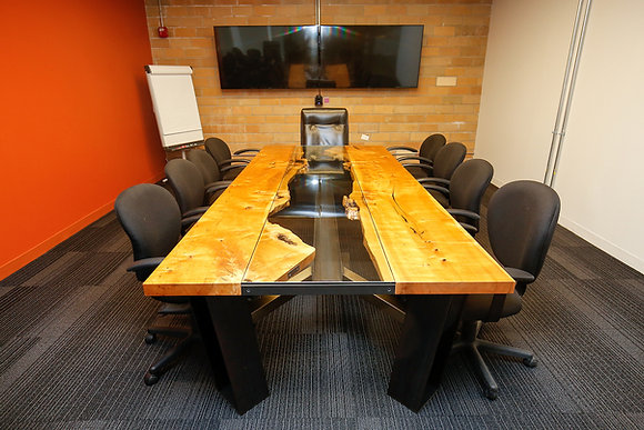 Maple and I-Beam Conference Table