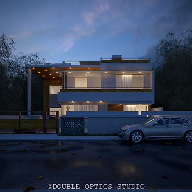 Older Projects 6 : Exterior Rendering Chandigarh House
