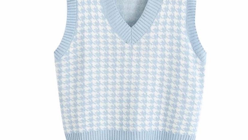 Baby Blue Knit Vest