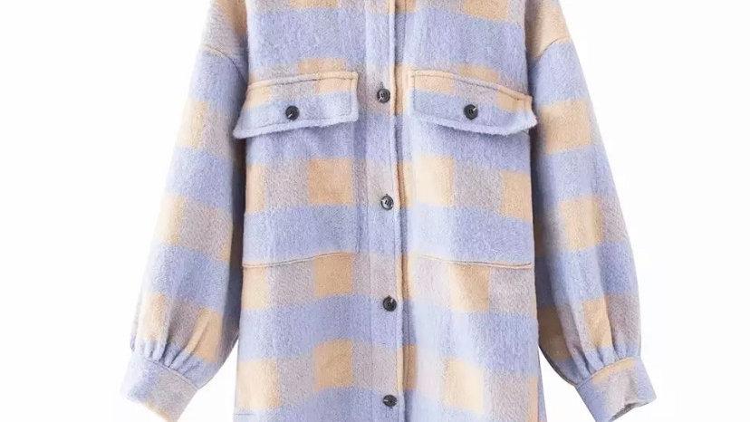 Lilac Plaid Jacket