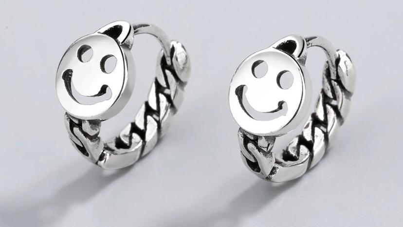 Smiley Chain Earrings