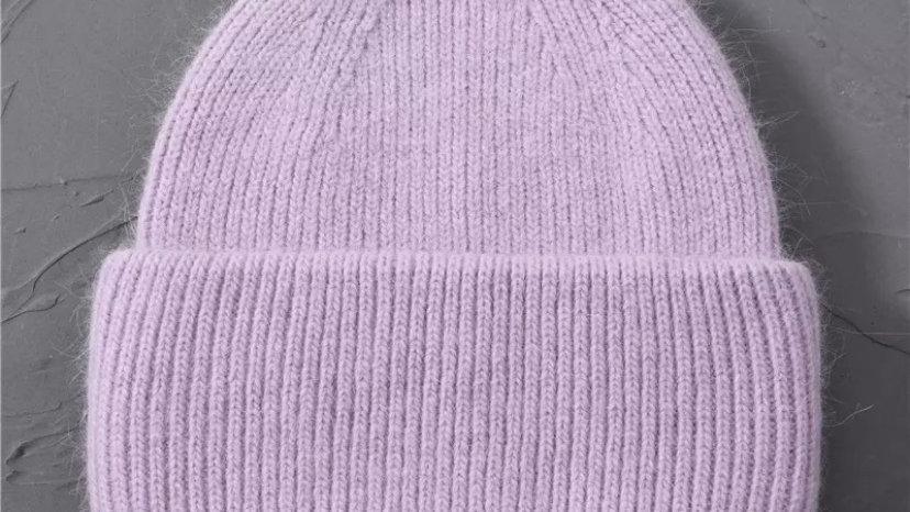 Lilac Wool Beanie