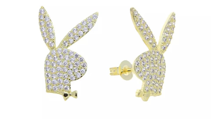 Bunny Earring Studs Gold