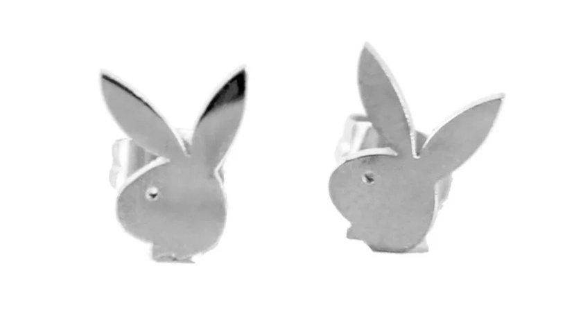 Silver Bunny Earring Studs