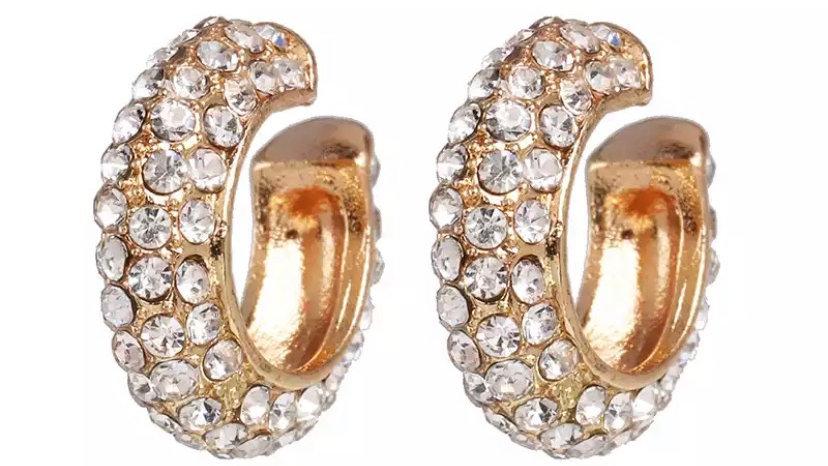 Crystal Earrcuffs