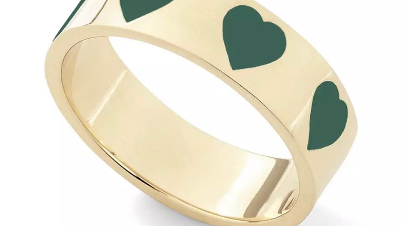 Green Candy Heart Ring