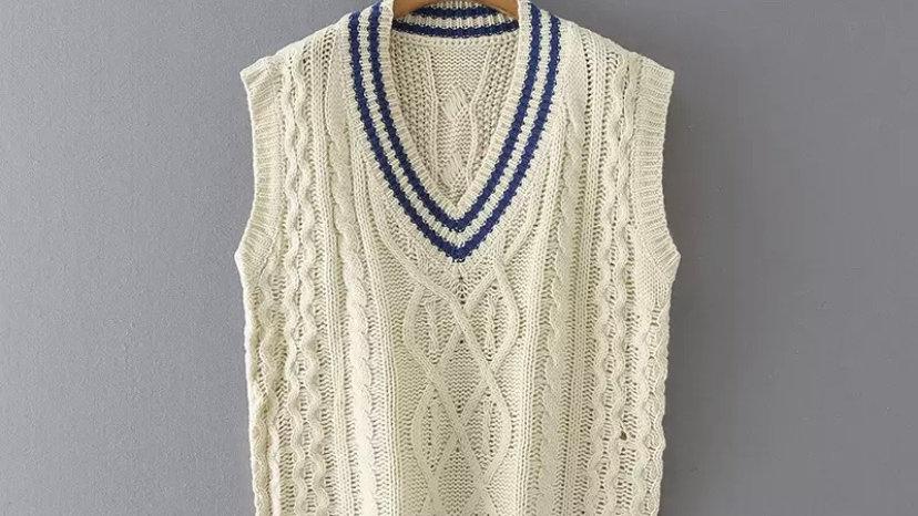 Preppy Knit Vest