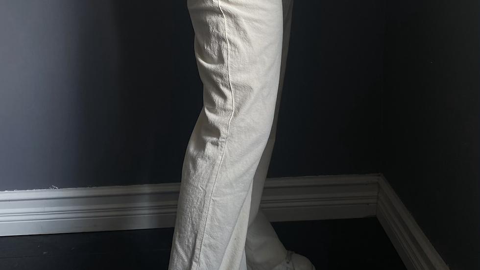 Beige Linen Pants