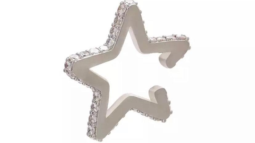 Silver Star Ear Cuff