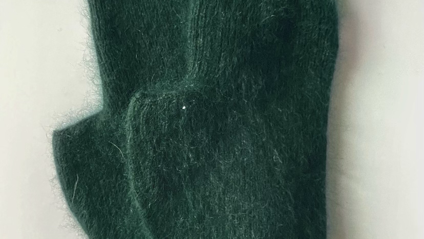 Dark Green Cashmere Gloves