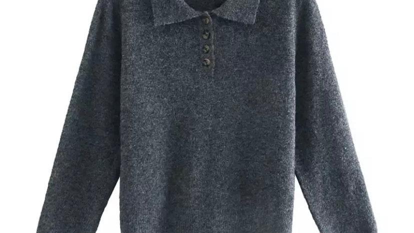 Grey Zoe Sweater