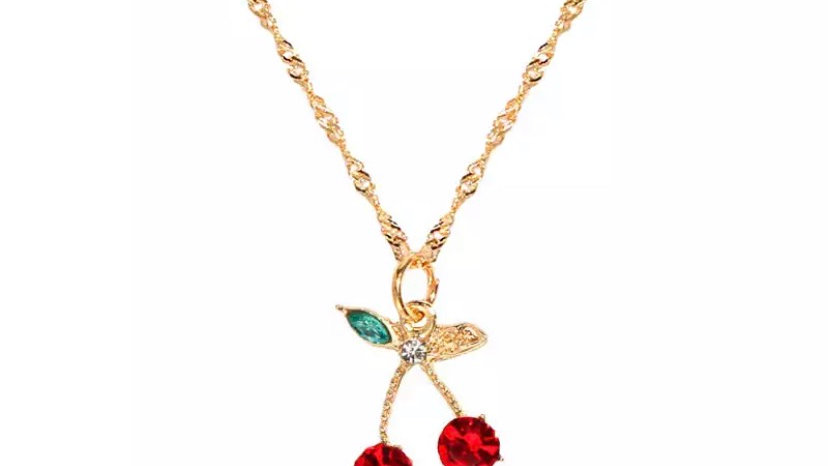 Gold Cherry Necklace