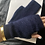 Thumbnail: Dark Blue Cashmere Gloves