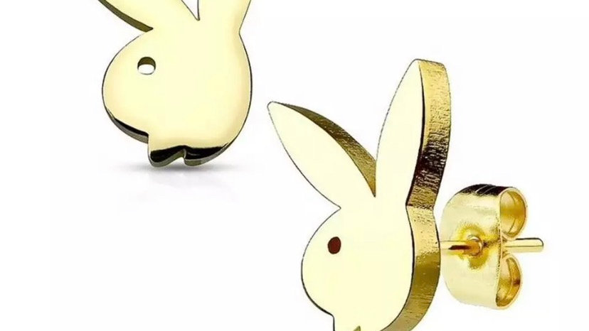 Gold Bunny Earring Studs