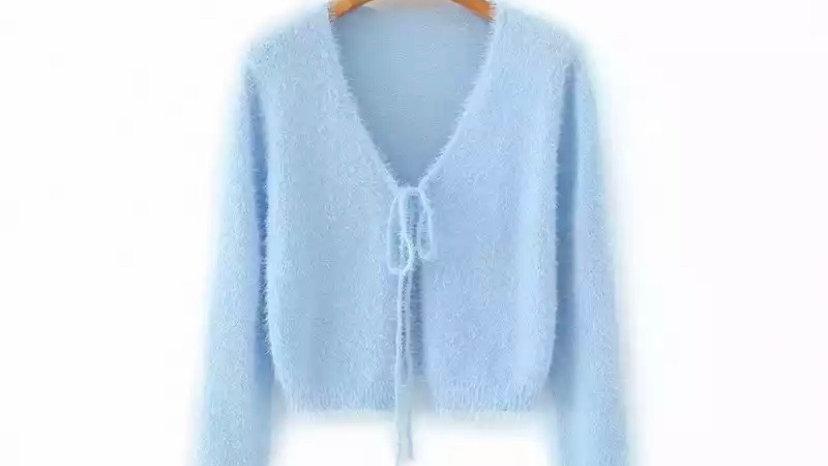Blue Matilda Fuzzy cardigan