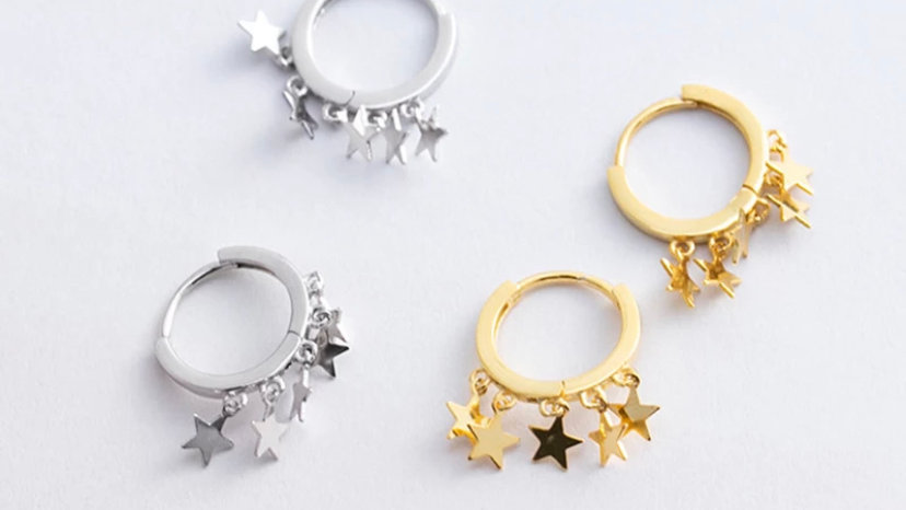 Melina Star Hoops