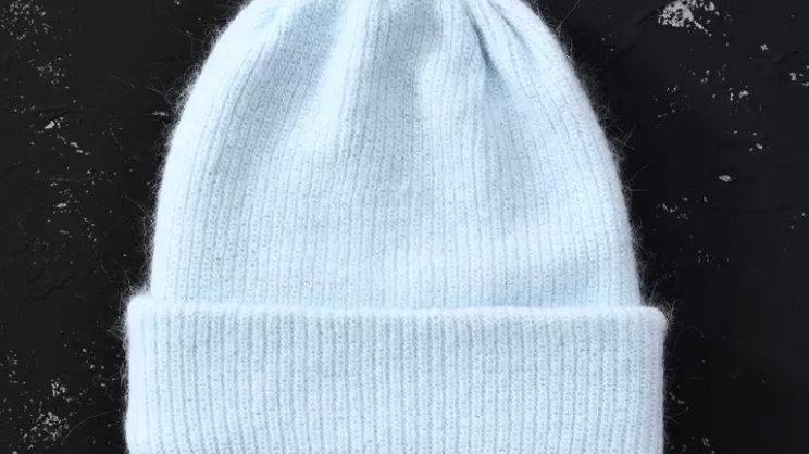 Baby Blue Wool Beanie