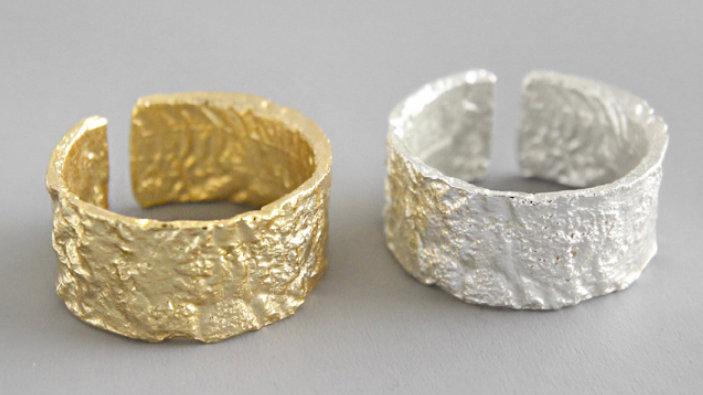Big Hammered Ring