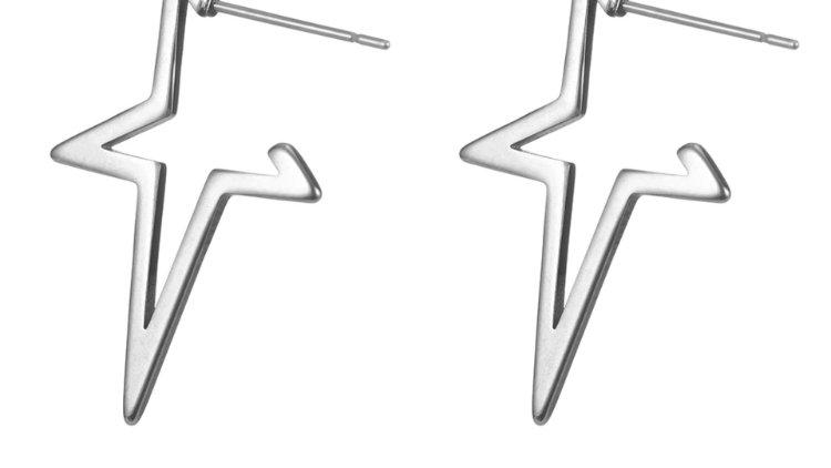 Star Shaped Stud Silver
