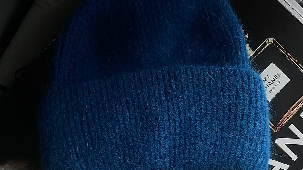 Royal Blue Cashmere Beanie