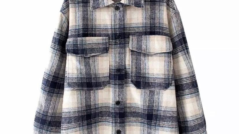 Navy Plaid Jacket