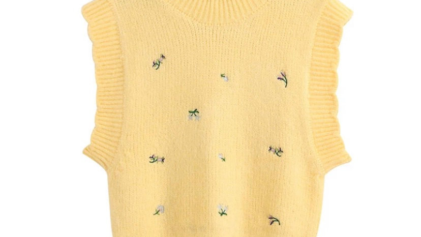 Daisy Knitted Vest