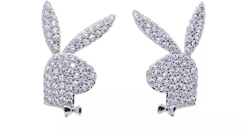 Bunny Earring Studs Silver