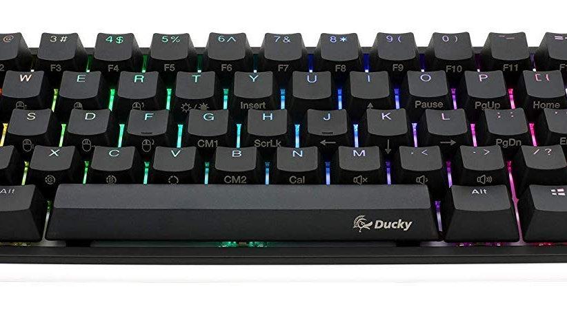 Ducky One 2 Mini RGB LED 60% Double Shot PBT Mechanical Keyboard (Cherry MX Sile