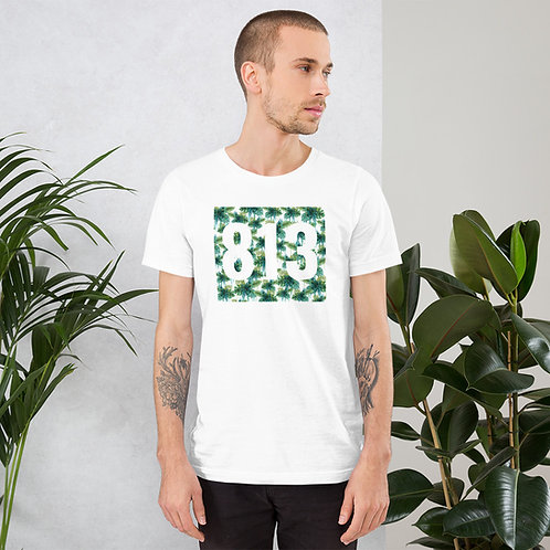 813 Green Flower Short-Sleeve Men's T-Shirt