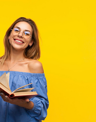 Girl with book and yellow background.png
