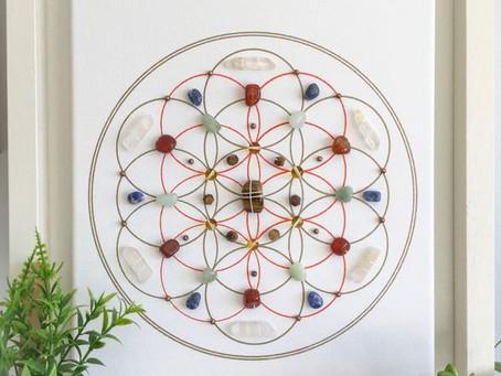 Create a Flower of Life Crystal Grid!