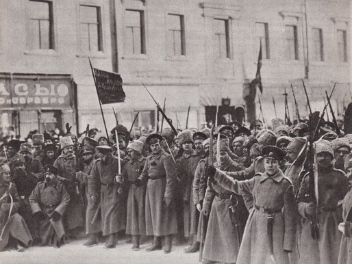 Group of soldiers in Petrograd who went over to the side of the February Revolution, 1917